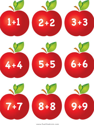 Apple Pairs - Doubles Addition - Printable