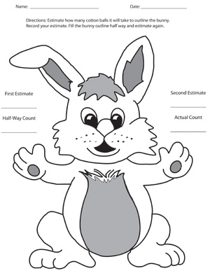 Bunny Estimation - Printable