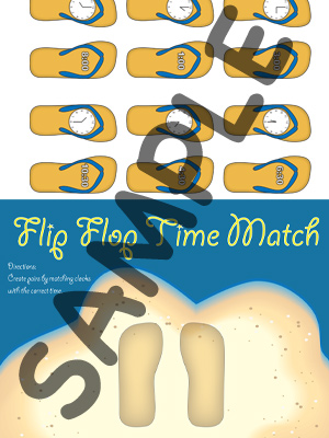 Flip Flop Time Match - 30 Minutes - Printable
