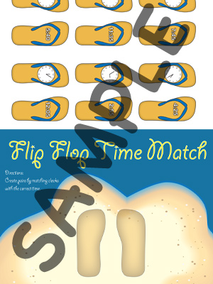 Flip Flop Time Match - 5 Minutes - Printable