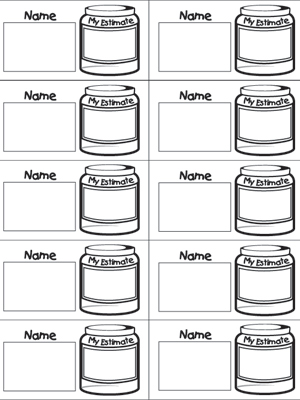 Estimation Jar Slips - Printable