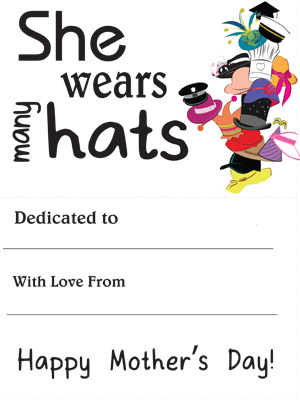 mother 39 s day booklet she wears many hats fuel the brain. Black Bedroom Furniture Sets. Home Design Ideas