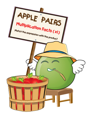 Apple Pairs - Multiplication Facts (x1) - Preview 2