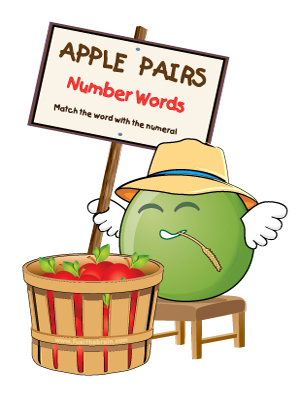 Apple Pairs - Number Words - Preview 2