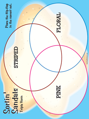 Sortin Sandals Triple Venn - Printable